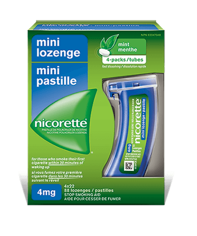 Nicorette Mint Flavoured Mini Lozenges 4 mg Packaging