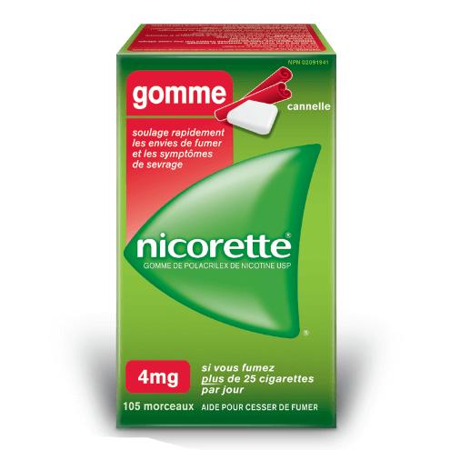 nicorette gomme pas cher
